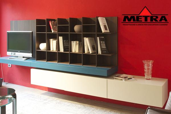 Libreria poliform sintesi design carlo colombo metra for Sintesi arredamenti