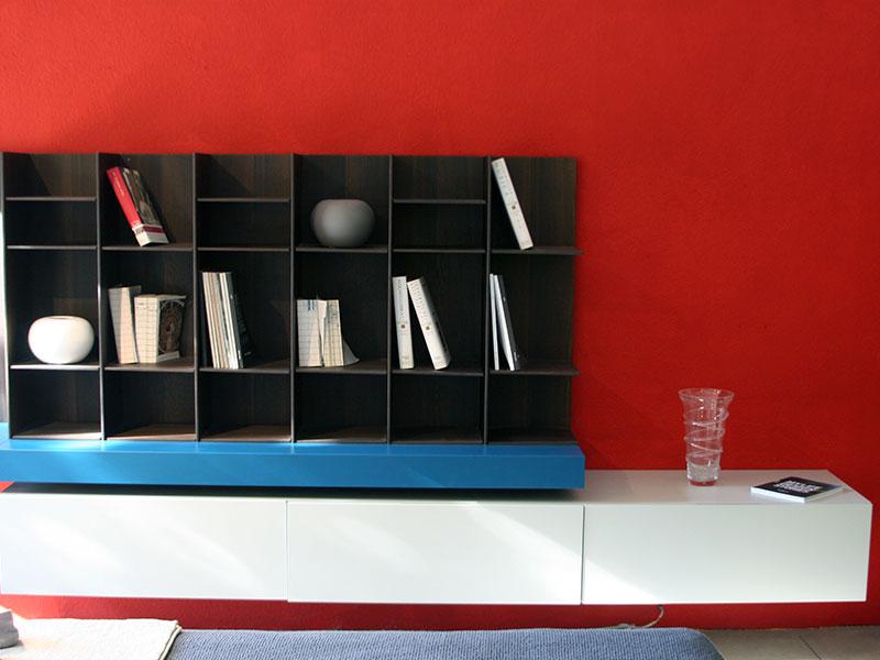 Libreria mobile tv sintesi della poliform metra for Sintesi arredamenti